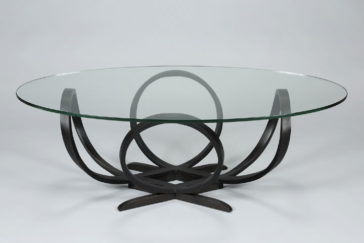 Penrose Bentwood table - iron stained walnut