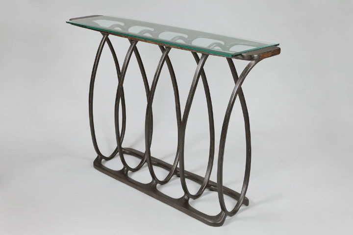 Five Coil bentwood table
